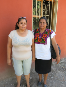 Sonia the director of the library with Profesora Mariana